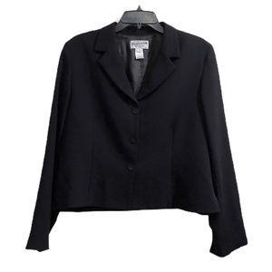 Pendleton Black Wool Women's Blazer 14 Petite